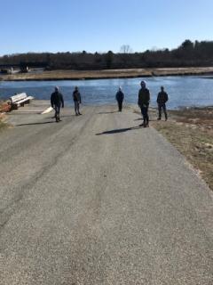 2020 Dock installation volunteers social distancing