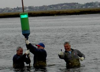 Volunteers marking the Rowley river years past